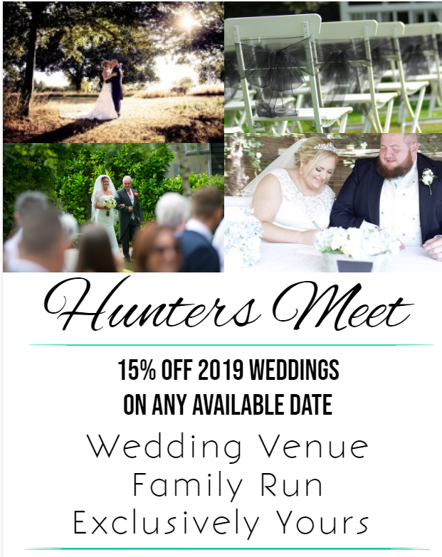 15% OFF YOUR WEDDING ON LAST AVAILABLE 2019 DATES