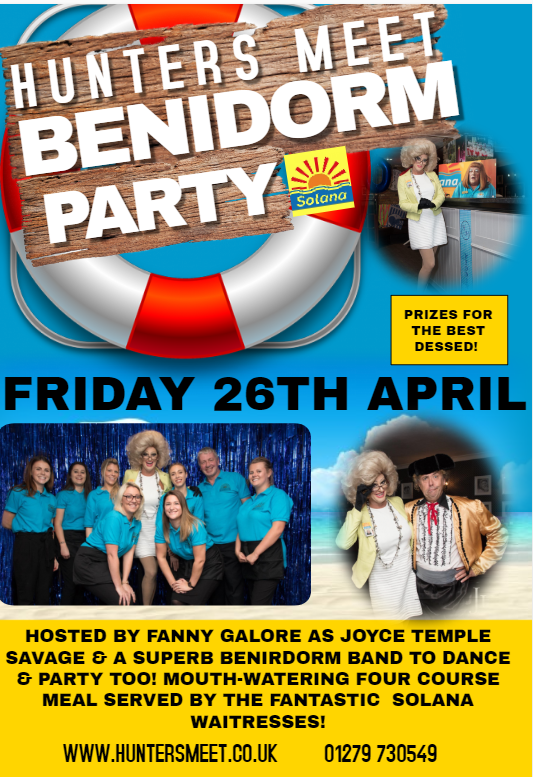 Benidorm comes to Hunters Meet on 26th April .