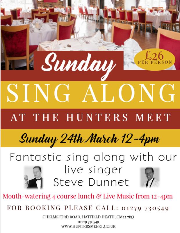 Sunday Sing Along – Sunday 24th March.
